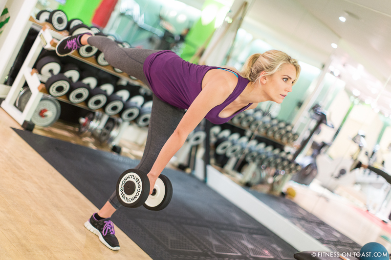 Functional Training Weights Gym Girl