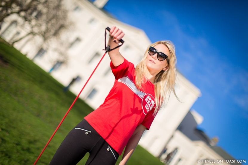 Fitness On Toast Faya Blog Sports Clothes Exercise and Fashion Post Kenwood House Sport Relief 2014 Charity Comic Relief Arm Rehab Resistance Band Exercises Strength Muscle-6