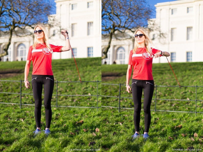 Fitness On Toast Faya Blog Sports Clothes Exercise and Fashion Post Kenwood House Sport Relief 2014 Charity Comic Relief Arm Rehab Resistance Band Exercises Strength Muscle - compilation 3