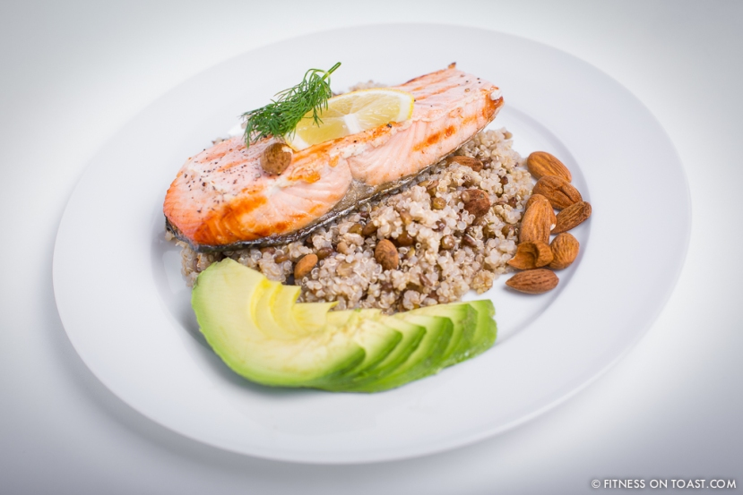 Fitness On Toast Faya Quinoa Lentil Grilled Salmon Healthy Dish Tasty Recipe High Protein Natural