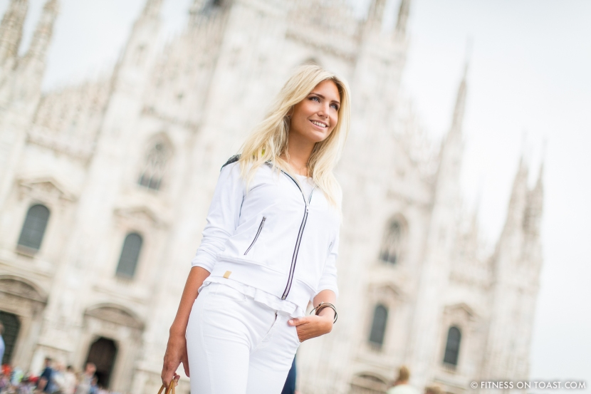 Fitness On Toast Faya Blog Girl Healthy Training Travel Milan Italy Fashion Activewear Gym Clothes Outfit Sporty Chic Look OOTD Hotel Luxury Principe Di Savoia J Brand Louis Vuitton Under Armour Monreal London Duomo FINAL ULTIMATE-1