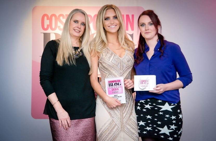 Fitness On Toast Cosmopolitan Blog Awards 2014 Next Winner Best Lifestyle Category Award Ceremony Blogger Beauty Fashion Gym Exercise FINAL