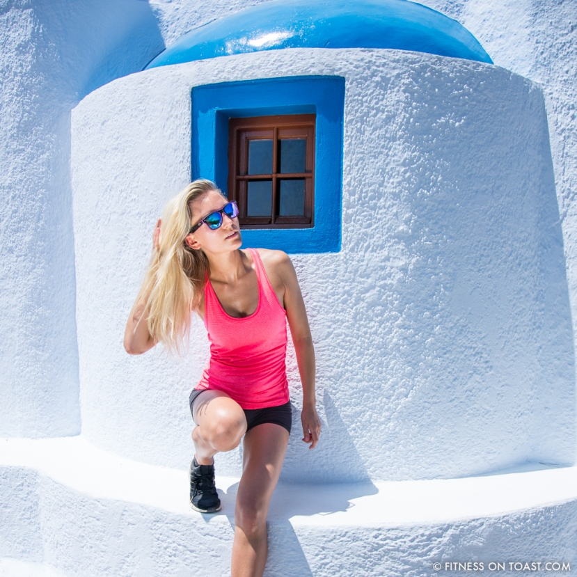 Fitness On Toast Faya Blog Healthy Workout Travel Active Escape H&M Hennes HMSport Fashion Santorini Greece Outfit OOTD-4