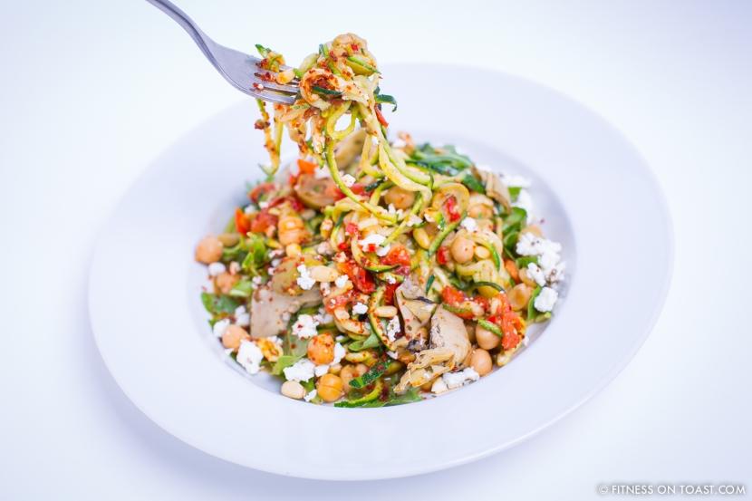 Fitness On Toast Faya Blog Girl Healthy Recipe Nutrition BPay Barclays Borough Market Spaghetti Health Pasta Courgette MAIN