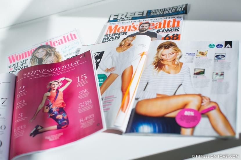 Fitness On Toast Mens Health Womens Magazine Feature Press Coverage Healthy Nutrition Workout Fashion OOTD