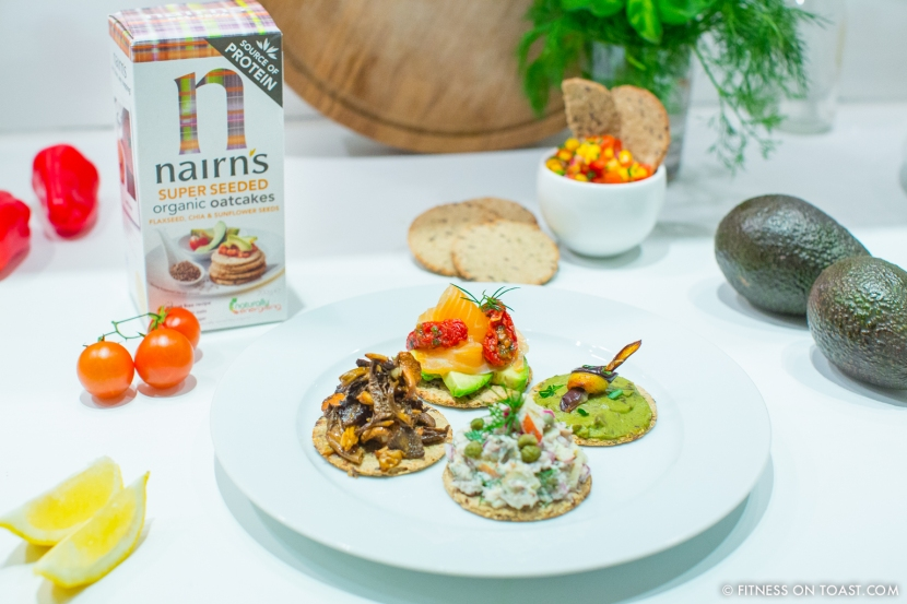 Fitness On Toast Faya Blog Girl Healthy Nutrition Recipe Idea Ingredients Nairns Wholegrain Oat Cake Entertaining Canapes Health Beauty N-2